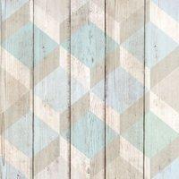 gold copenhagen blue and green scandi matt wallpaper