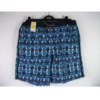 Marks & Spencer Blue Patterned Swim Shorts Size Large