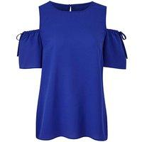 Cobalt Blue Cold Shoulder Shell Top