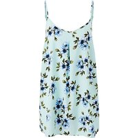 Mint Print Strappy Cami Top