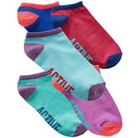5 Pack Multi Active Trainer Socks