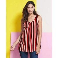 Stripe Printed Vest Top