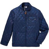 Jacamo Navy Beattie Quilted Jacket Long