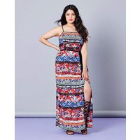 Simply Be Floral Print Split Maxi Dress