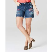Evie Painted Badge Denim Shorts