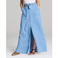 Soft Lyocel Denim Split Front Maxi skirt