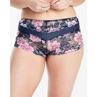 Pippa Printed Lace Navy Floral Shorts