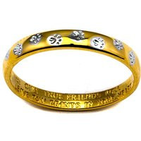 Gold Plated Silver Pawprint Message Ring