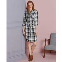 Black Check Shirt Dress