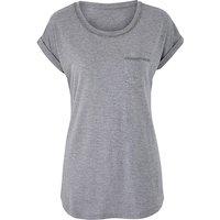Grey Marl Embellished T-shirt