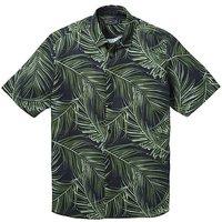 Label J Big Palm Print Shirt Long