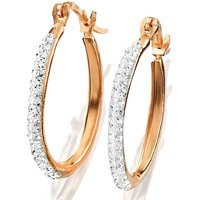 Crystal Glitz Hoop Earrings