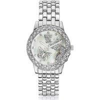 Butterfly Silver-tone Bracelet Watch