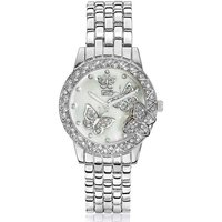 Butterfly Silver-tone Bracelet Watch