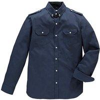 Jacamo Long Sleeve Navy Military Shirt L