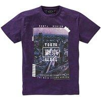 Label J Tokyo Print T-Shirt Long