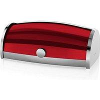 Swan Roll Top Bread Bin Red