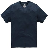 Capsule Navy Titus V-Neck Tee Long