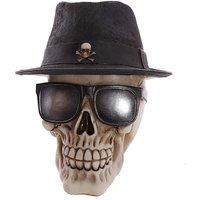 Gothic Skull Decoration Trilby Hat