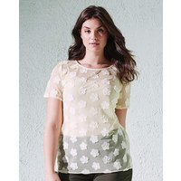 3D Flower Shell Top