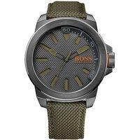 BOSS Orange Watch With Green Nylon Strap