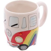 Rainbow Design Ceramic Camper Van Mug