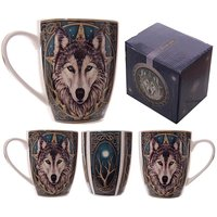 Fantasy Wolf Head Bone China Mug