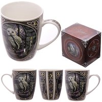 Fantasy Owl Design Bone China Mug