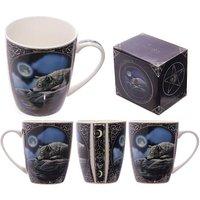 Fantasy Wolf and Moon Bone China Mug