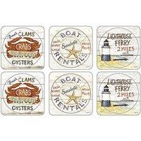 Pimpernel Coastal Signs Coasters