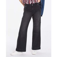 Pixie Wide Leg Jeans Black Regular