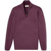 WILLIAMS & BROWN Zip Neck Sweatshirt