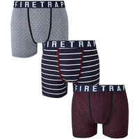 Firetrap 3 Pack Assorted Boxers
