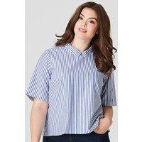 Junarose Blue Striped Shirt