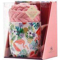 Flamingo Mug and Socks Gift Set