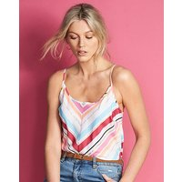 Chevron Stripe Pleat Camisole