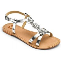 Girls Flower Detail Sandals Standard Fit
