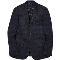 Black Label Checked Wool Blazer Long