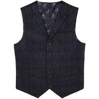 Black Label Checked Wool Waistcoat R