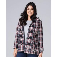 Navy/Red Check Duffle Coat Length 28in