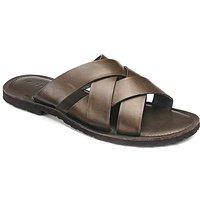 Leather Cross Strap Sandal