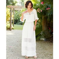 Ivory Tie Front Dress