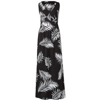 Black/Ivory V Neck Value Maxi Dress