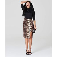 Simply Be by Night Leopard Print Midi