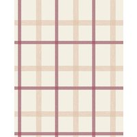 Graham and Brown Plaid Russet Wallpaper