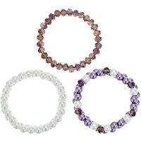Mood Purple Tonal Beaded Bracelet Set