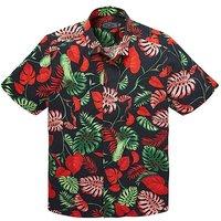Label J Hawaiin Print Shirt Long