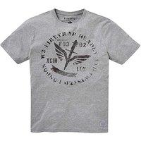 Firetrap Stamped T-Shirt Long