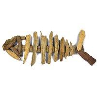 Natural Driftwood Ornament Fish Skeleton