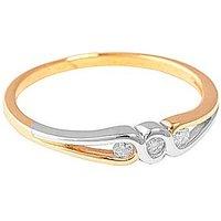 9ct Yellow Gold 0.10ct Diamond Ring